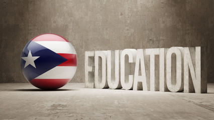 Puerto Rico Education Concept