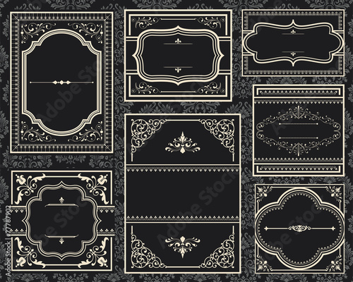 Ornate Vintage Frames - 77787902