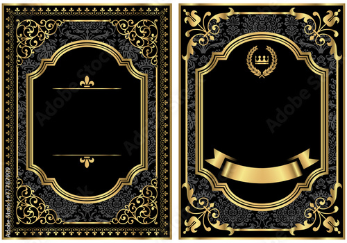Gold Vintage Scroll Frames