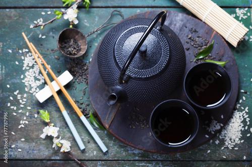 Plagát, Obraz Asian tea set