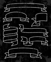 Set of banner ribbons. Vector illustration
