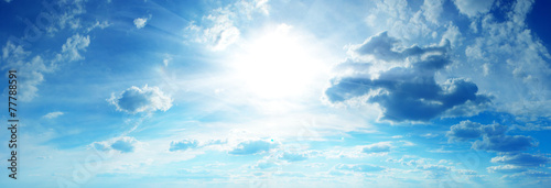 blue sky background with tiny clouds - 77788591