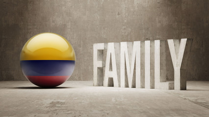 Colombia. Family  Concept.