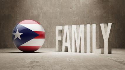 Puerto Rico. Family  Concept.