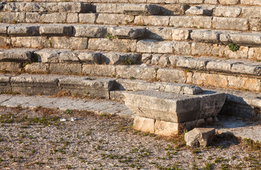 Ruins of ancient Roman theater in Byblos, Lebanon