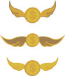 coins with wings