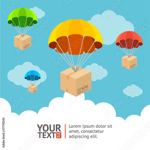 Vector parachute card - 77792361