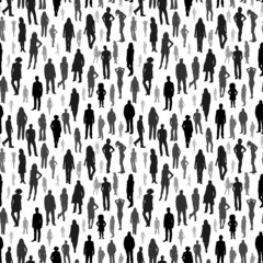 Large group of people. vector seamless pattern
