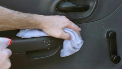 Car Cleaning Wipe Inside of Door