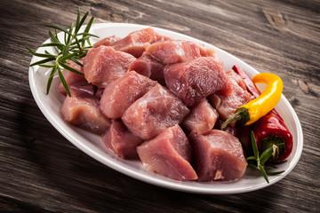 Raw, fresh meat