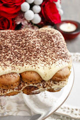Valentines day party: tiramisu cake