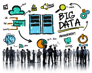 Business People Big Data Management Discussion Teamwork Concept
