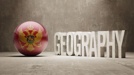 Montenegro. Geography  Concept.