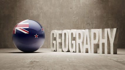 New Zealand. Geography  Concept.