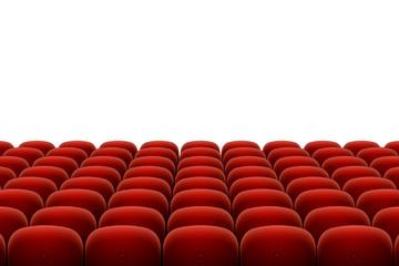 Vector red cinema, theatre seats