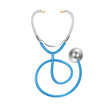 Vector blue Stethoscope - 77795155