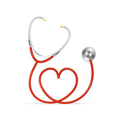 Vector Red Stethoscope