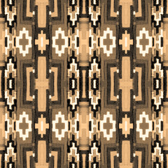 Ornament with a repeating pattern of geometric shapes