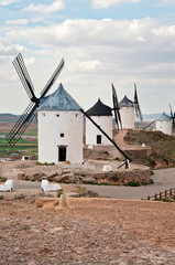 Traditional windmills in Consuegra, Spain
