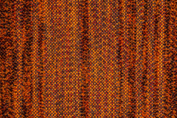 terracotta striped fabric as background