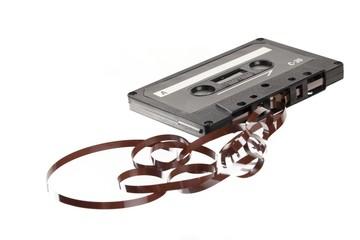 close up shot of old cassette