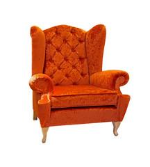 Orange armchair