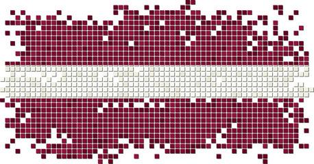 Latvian grunge tile flag. Vector illustration