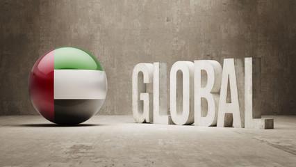 United Arab Emirates. Global  Concept.