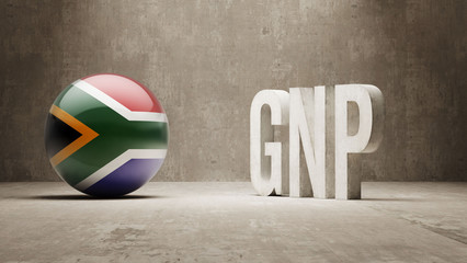 South Africa. GNP  Concept.
