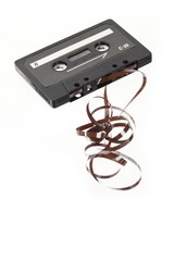 reel out of audio cassette