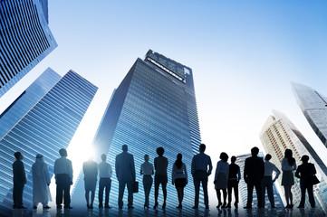 Business People Cityscape Architecture Building Concept