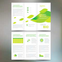 brochure folder leaflet bio eco green leaf nature abstract eleme