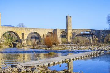 old stone bridge, Besalú spain