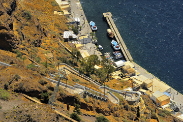 Santorini, Grecja, architektura