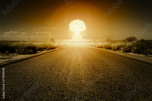 nuclear bomb explosion - 77800548