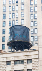Old Black Water Tank on Chicago Building