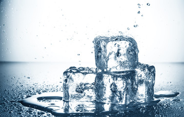 cubetti di ghiaccio splash