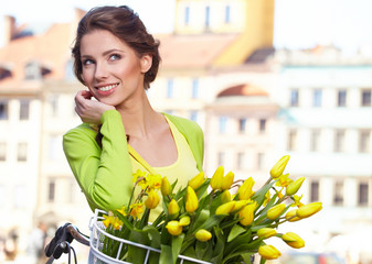 Fashion style photo of a spring women