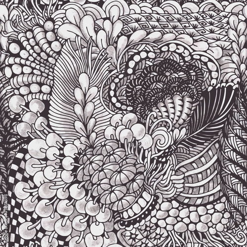 Tuinposter Kunstmatig Zentangle pattern