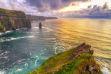 Fototapety Cliffs of Moher at sunset, Co. Clare, Ireland