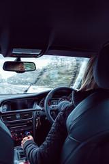 driving in snow sleet