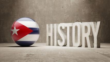 Cuba. History  Concept.