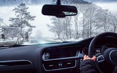 snow car drive