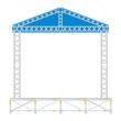 vector flat style sectional precast concert metal stage roof - 77802362