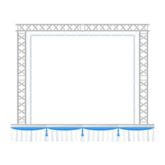 vector flat style sectional precast concert metal stage banner