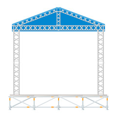 vector flat style sectional precast concert metal stage roof