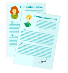 choice of candidate for the job, curriculum vitae stack