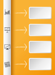 Infografik orange