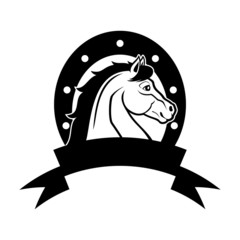 Vector sign. Horse.
