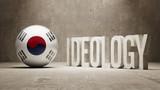 South Korea. Ideology  Concept. poster